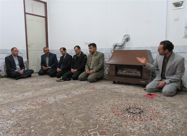 دیدار با خانواده شهید نصرالهی و جانباز سرافراز دفاع مقدس سنگکی